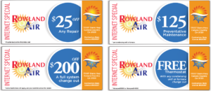 heating and air conditioning repair service or maintenance discounts coupons specials