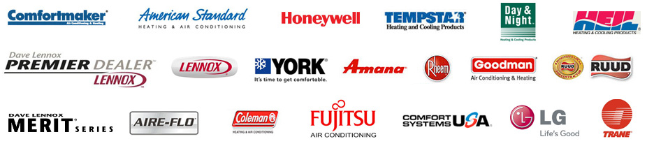 air conditioning brands we service and repair